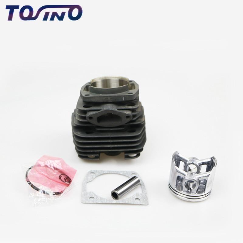 Alta calidad 5200 5800 52CC 58cc cilindro de motosierra de gasolina y conjunto de pistones piezas de repuesto de motosierra