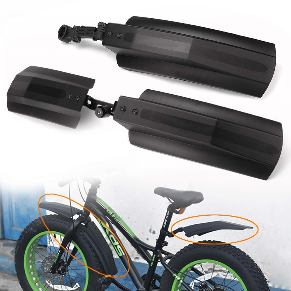 2PCS Snow Bicycle MTB Mountain Bike Front Rear Mud Guard Fenders for Fat Tire