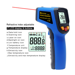Image 5 - LCD IR Infrared Thermometer Non Contact Double/Single Laser Pyrometer Digital C/F Selection Surface Temperature Monitor