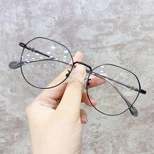 Eyewear Eyeglasses Metal Frame Oversized Anti-Blue-Light Female Women Optical-Reading