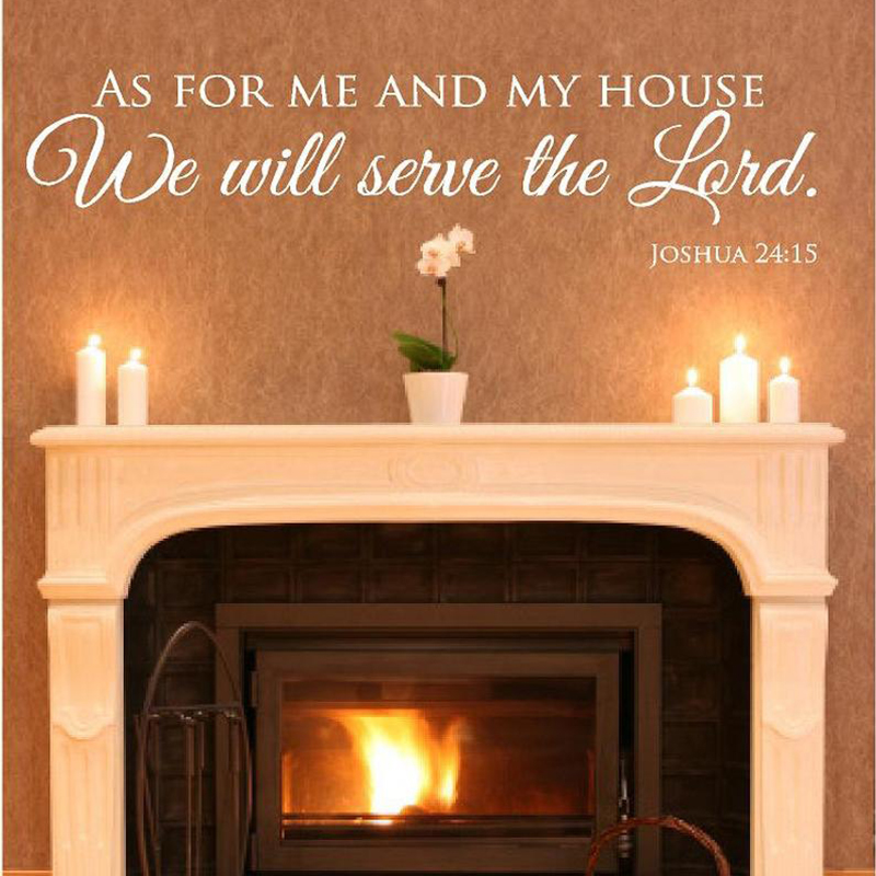 Permalink to Christian Scripture Wall Decals Joshua 24: 15 Christian Quotes Wall Decals for Wall Vinyl Home Living Room Decoration Mural X010