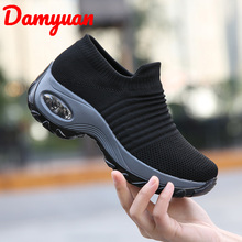 Damyuan 2019 Autumn New Air Cushion Womens Size 42 Running Warm Sports Outdoor Jogging  Casual Sneakers Height Increasing Shoes