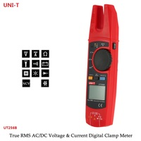 UNI T UT256B Digital True RMS Fork Auto Multimeter 200A AC DC Current Clamp Meters NCV Tester Voltmeter Ohm Cap Auto Range More