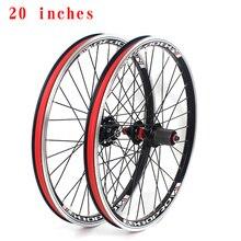 Koło rowerowe górskie zestaw 20 cali 406 451 V hamulec tarczowy hamulec dwuwarstwowy stop aluminium 2 łożysko 7-10 prędkość 32 zestaw kół otworowych