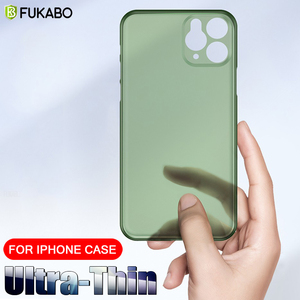 Luxury Ultra Thin 0.26mm PP Case For iPhone 11 Pro 7 8 Plus XR XS Max PC Shockproof Protection Cover For iPhone X SE 5s 6s Plus