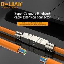 Adaptateur de jonction de câble RJ45 Cat6A Cat6, boîte de connexion, connecteur d'extension de câble Lan entièrement blindé, sans outils, B-LIAK