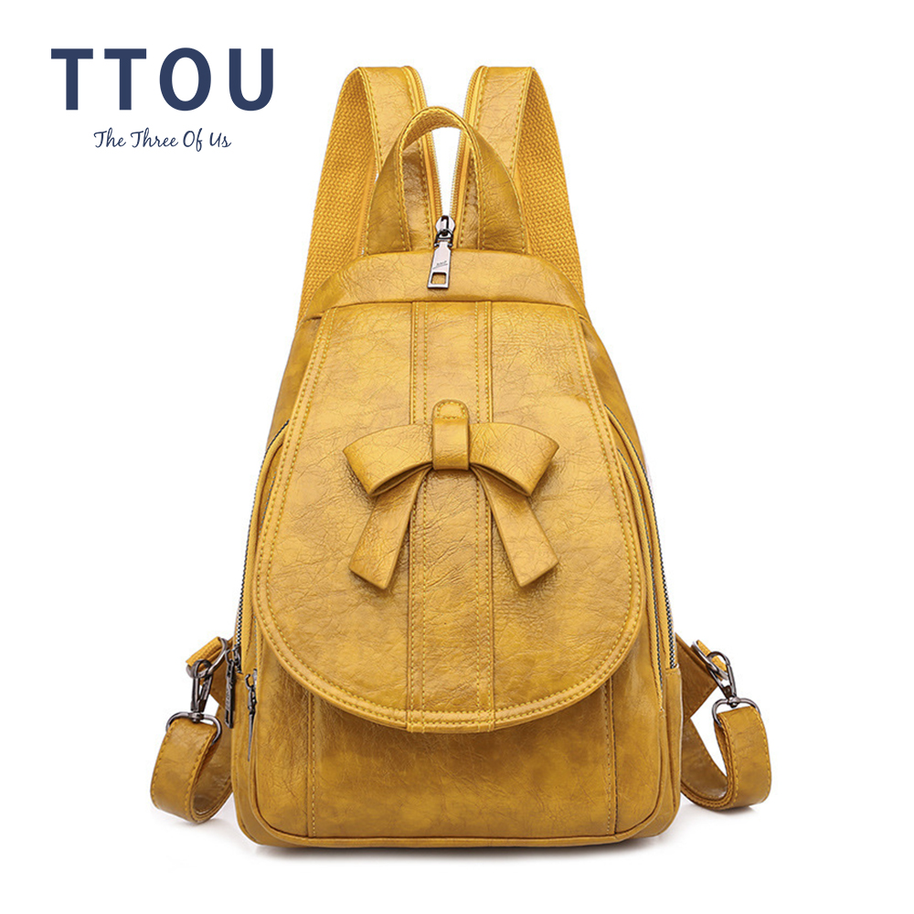 2020 Fashion Anti Theft Women Backpack Durable Leather Travel Backpack Female Casual Girls School Backpack Ladies Backpack
