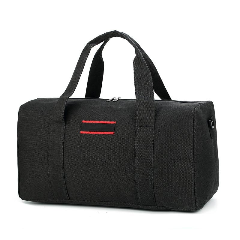 Men Travel Canvas Bag Large Capacity Women Travel Luggage Bag Sports Fitness Handbag Travel Duffel Bags Bolsa De Viagem