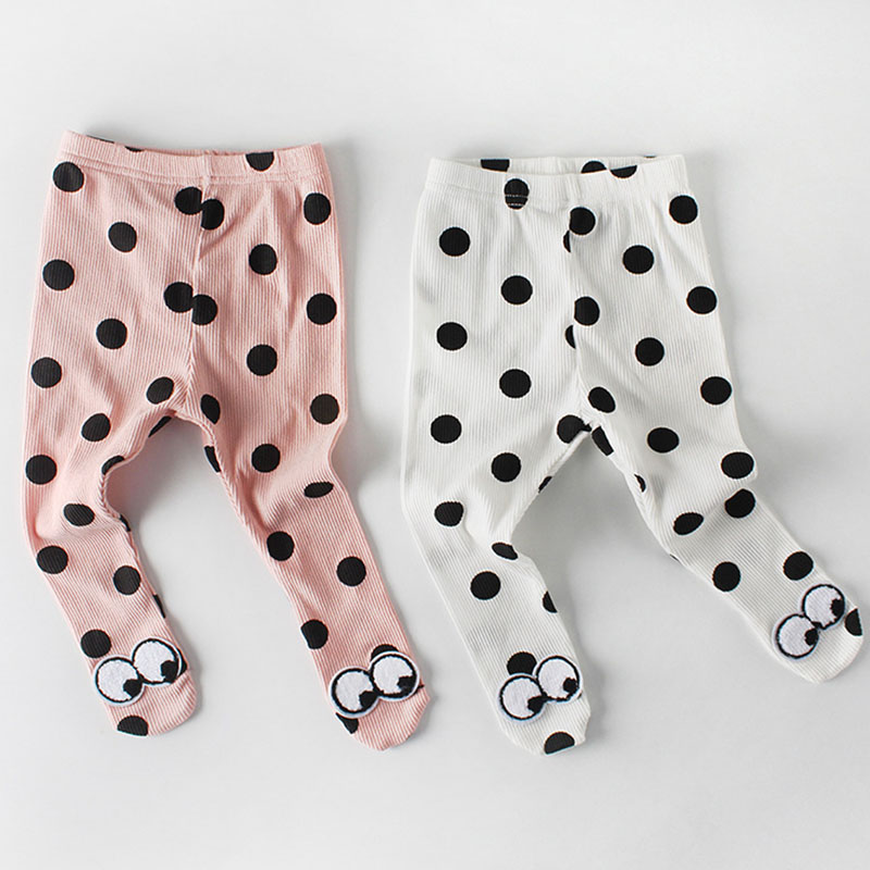 2019 Spring Clothes Cotton Baby Pantyhose Newborn Baby Point-eyed Pantyhose Pants Baby Leggings Baby Boys Girls Pants