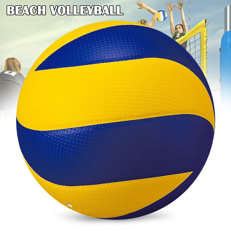 1 PC Soft PU Leather Beach Volleyball Match For Indoor Outdoor Match Game Official Ball For Kids Adult Beach Game Sports MVI-ing