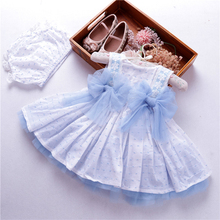 summer toddler baby girl dress wedding blue spanish ball gown dresses kids vintage clothes frock cotton children boutiques