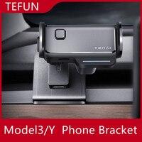 Montaje de teléfono móvil para coche Tesla Model 3 Y Clip fijo, soporte para teléfono móvil de seguridad, montaje de teléfono Tesla para pantalla HUD
