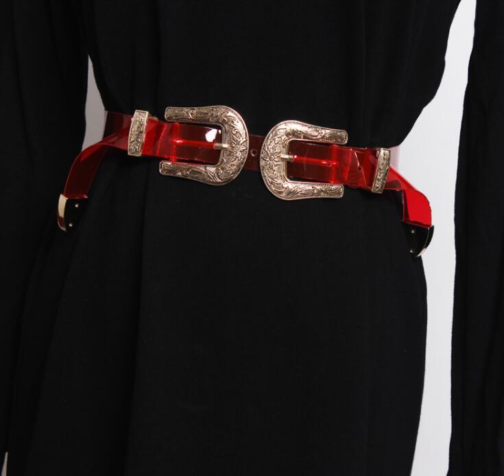 Women's Runway Fashion Pvc Cummerbunds Female Dress Corsets Waistband Belts Decoration Wide Belt R1859