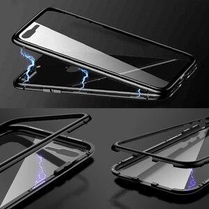 Image 4 - 360 podwójne szklane etui do Xiaomi Redmi Note 8 Pro 8T 9 s 8t 7 8a K30 K20 Mi 10 Pro 5G A3 Lite Max 3 9 SE magnetyczna tylna okładka