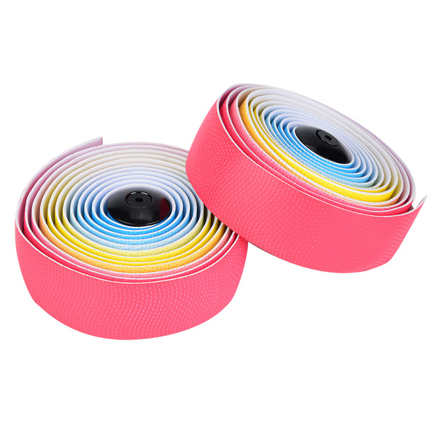 1 Pair Bike Steering Tapes With Elastic Soft Sweat Absorption  Irisated Road Bike Handlebars Belt For Mountain Bikes Road Bikes