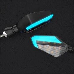 Motocykl kierunkowskaz LED światła zmodyfikowany wskaźnik dekoracyjna lampa specjalny styl lamp błyskowych uniwersalne kierunkowskazy światła do jazdy dziennej| |   -