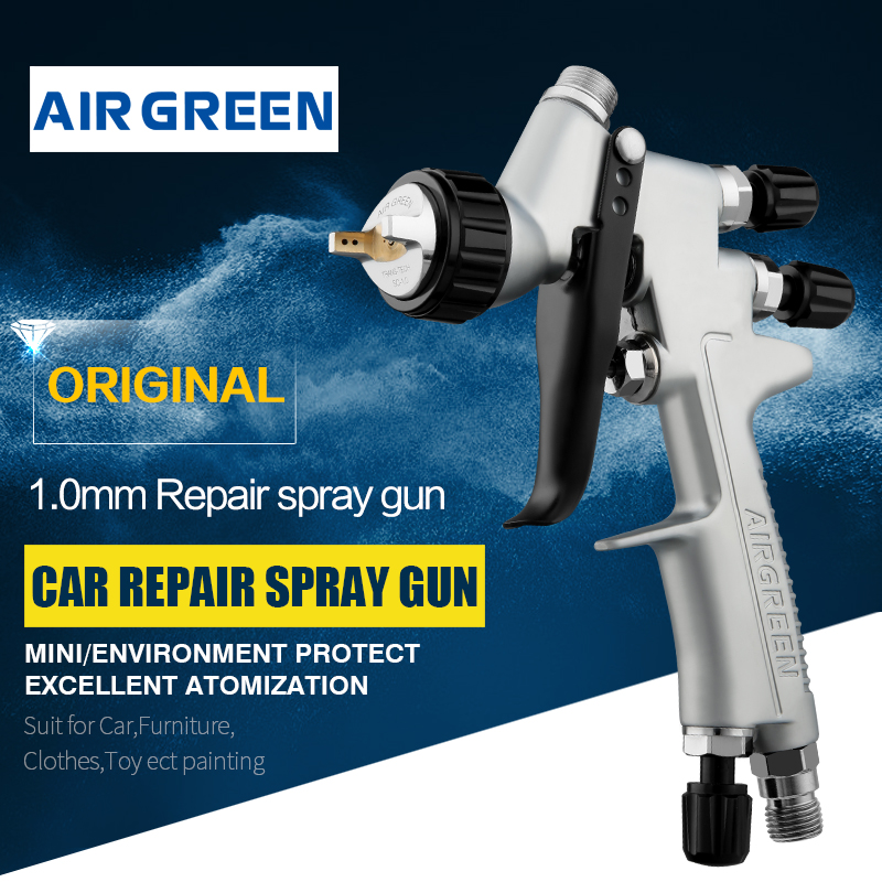 Mini Repair Painting Spray Gun 1 0 1 2mm Nozzle Low Pressure 7 Holes Air Cap Multi-functional Spraying