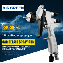 Mini Repair Painting Spray Gun 1.0mm Nozzle Low Pressure 7 Holes Air Cap Multi-functional Spraying