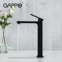 Gappo Black Chrome Tall Basin Wastafel Kraan Slanke Badkamer Wastafel Water Mengkraan Warm Koud Water Wastafel Kraan Tap Badkamer tap