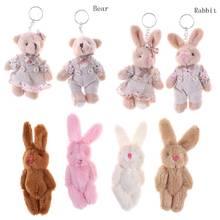 Plush-Keychain Couple Dolls Pendant Teddy Gift Bunny Rabbit Friends Bear 2pcs 11cm Key-Bag