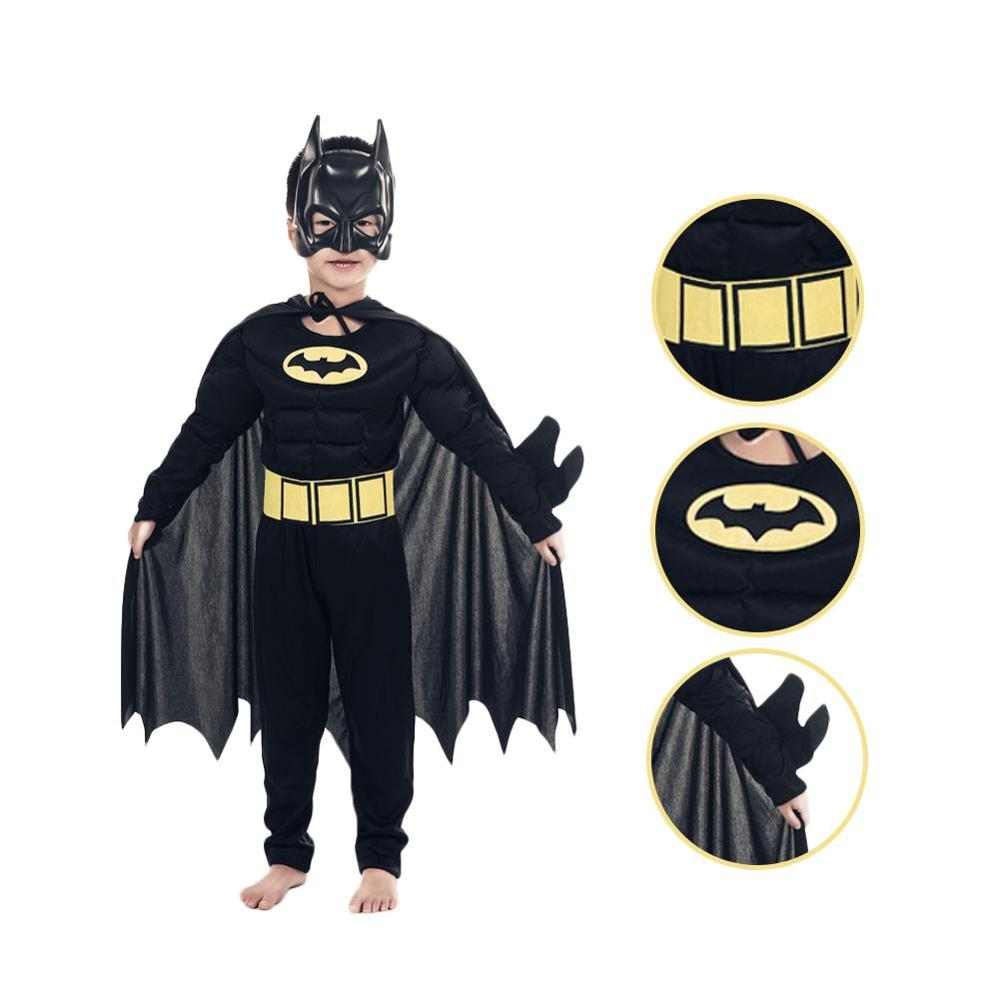 NEW Muscle Batman Costumes Superman Role Batman Costume Halloween For Kids Boys Superman Role Costumes Kids Halloween Dress