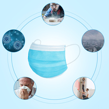 50PCS High Quality Mask Earloop Face Mouth Masks Three-layer Protective Mask Anti-virus Mask Anti-bacterial Mask Surgical mask