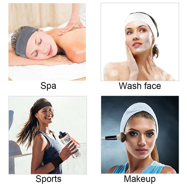 10Pcs Makeup Hairband Wrap Eyelashes Extension Spa Facial Headband Cloth Face Washing Hair Band Women Adjustable Headscarf 3