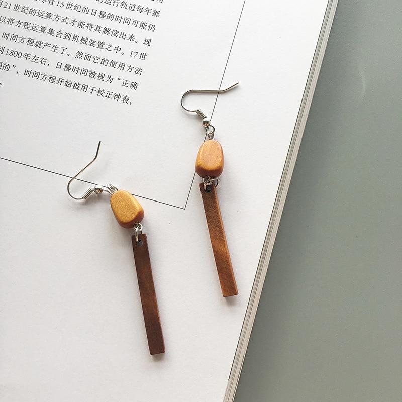 18 style Fashion colour wood earring geometric Long earrings for women ins Girl jewelry 2020 New oorbellen pendientes