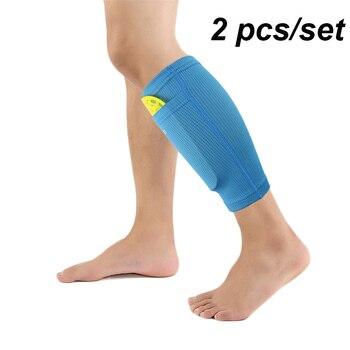 1 زوج فوتبول كرة القدم واقية الجوارب منصات شين الحرس مع جيب لكرة القدم شين منصات الساق دعم الأكمام