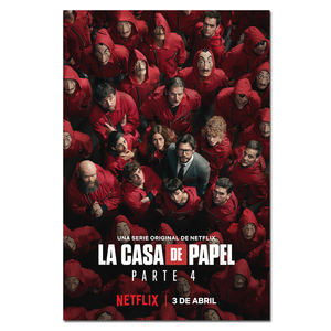 Money Heist Poster La casa de papel Silk Prints 2020 Spanish TV Season 4 Wall Picture Home Decor House of Paper Canvas Art(China)