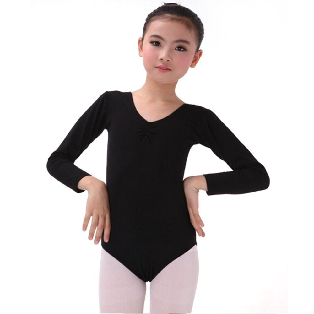 Kid Girl Long Sleeve Dance Bodysuit Gymnastics Leotards Ballet Leotard Dress L XL 2XL 3XL 4XL