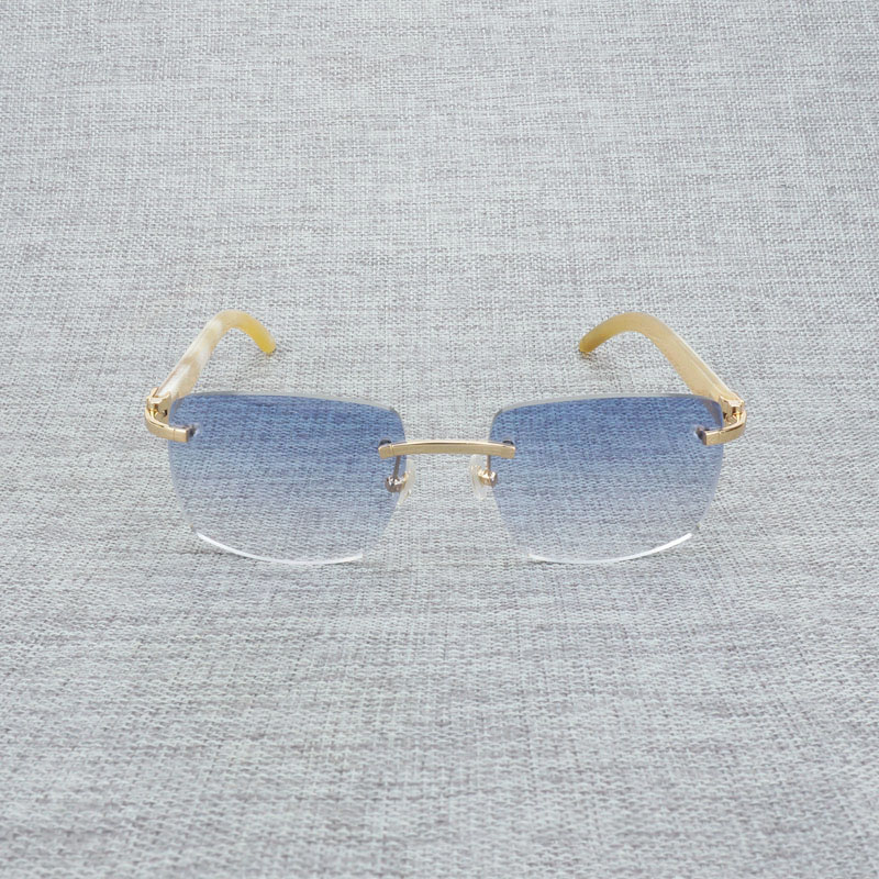 Новые фирменные дизайнерские мужские Квадратные Солнцезащитные очки негабаритных солнцезащитных очков прозрачные металлические золотые ... - 3
