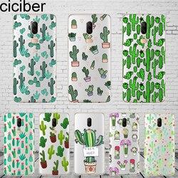 ciciber Cute Plant Cactus Cover For Oneplus 6 6T 5 5T Phone Cases For 6 5 T Fundas Coque Capa Soft Silicone TPU