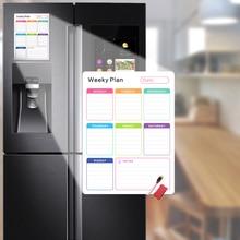 Многоразовые ежедневные сообщения Рисование холодильник доска белая DIY магнитный Еженедельный и ежемесячный планировщик доска стикер для холодильника