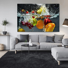 Fruit In Water Art Poster Print Wall Picture Coloring Canvas Painting
