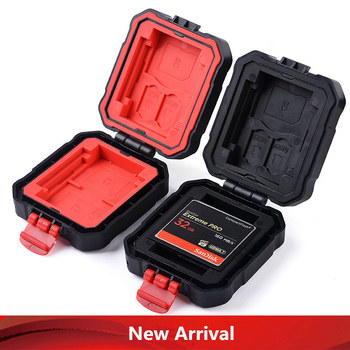 High Quality! Waterproof Card Case for TF SD CF XQD Memory card Case Anti-fall Card Cover For