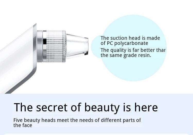 Sucção blackhead extrator ultra sônica poros máquina