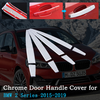 Chrome Car Door Handle Cover for BMW 2 Series F45 F46 Active Tourer Gran Tourer 2015~2019 Exterior Accessories 2016 2017 2018 image