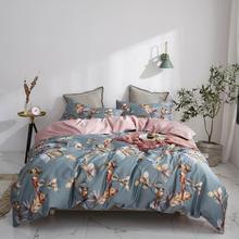 Svetanya Birds Leaves Flowers Bedlinens Silkly Egyptian Cotton Bedding Set Queen King Size Sheet Duvet Cover Set