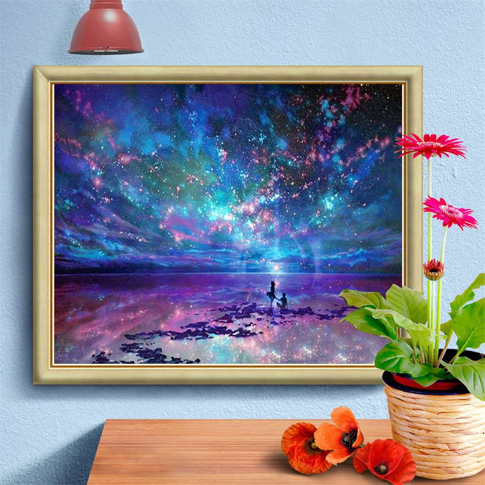 HUACAN 5D DIY Diamond Painting Full Drill Landscape Diamond Embroidery New Arrival Mosaic Home Decoration Gift