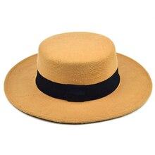 2021New Winter Autumn Imitation Woolen Women Men Ladies Fedoras Top Jazz European American Round Caps Bowler Hats Feminino Gorra