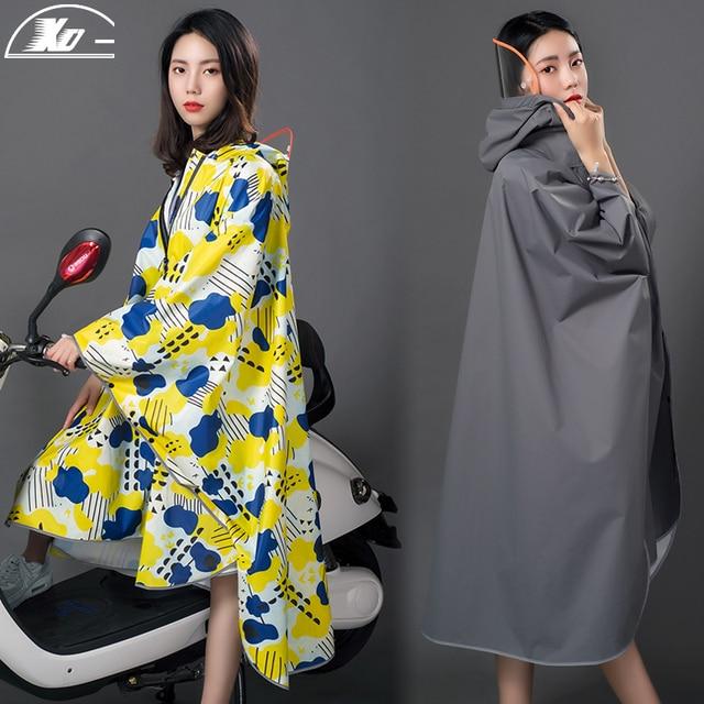 Long Women Raincoat Poncho Waterproof Suit Rain Coat Adult Outdoor Hiking Windbreaker Rain Partner Suit Chaquetas Mujer Gift 2