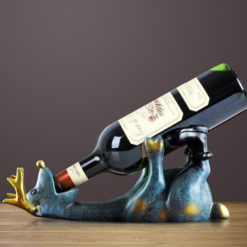 Europe résine ivre cerf vin Rack mignon animal beau cerf intérieur décoration moderne support de bouteille de vin artisanat maison décor accessoires