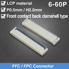 цена на FFC FPC LCD Flat Flexible Cable AWM 20624 80C 60V VW-1 FPC-0.5MM LCD Connector Flat Cable 6P 8P 12P 26P 30P 36P 40P 50P 54P 60P