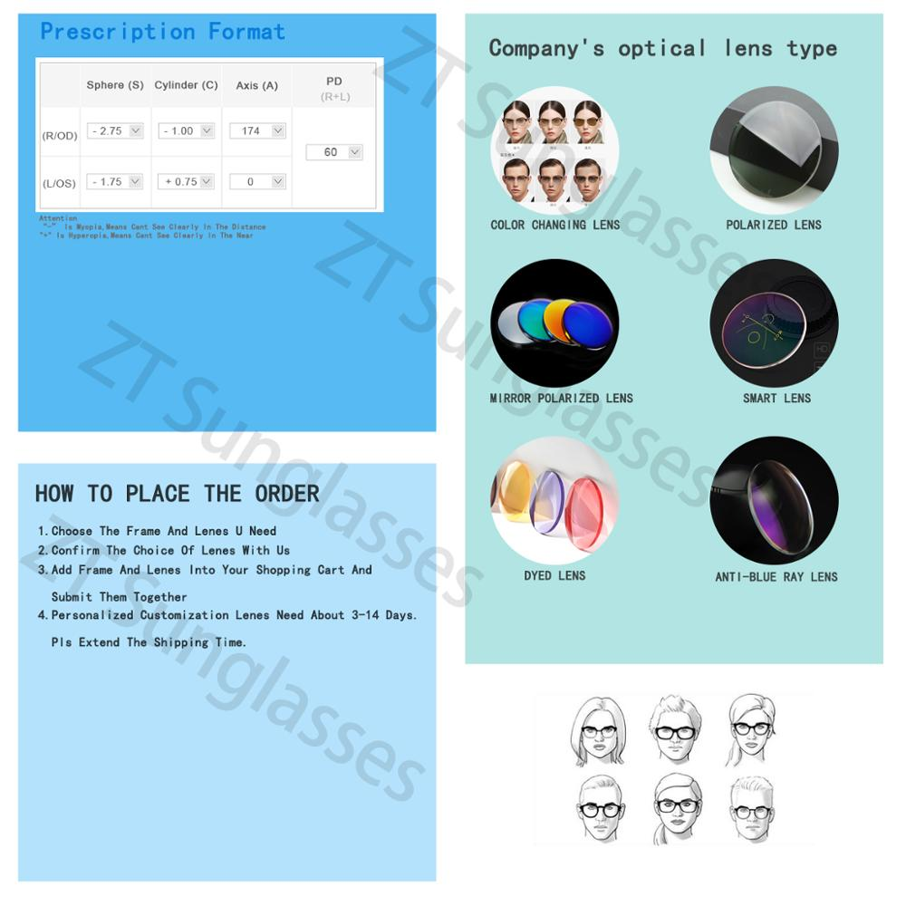 ZT 1.74 haute indice Ultra mince lentilles HMC asphérique Anti UV400 myopie clair optique Prescription lentille personnalisée non coupée - 5