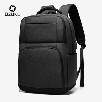 OZUKO 15.6 inch Laptop Computer Men Backpack Waterproof USB Charging Backpack for Teenage Male Casual Outdoor Travel Bag mochila