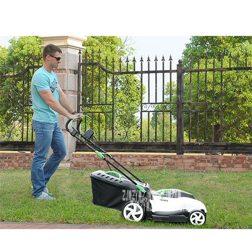 Tools : YT5148 Push-type Electric Lawn Mower Small Household Grass Trimmer Garden Tools High Power Lawn Mower 220V 1800W 3200RPM 42CM