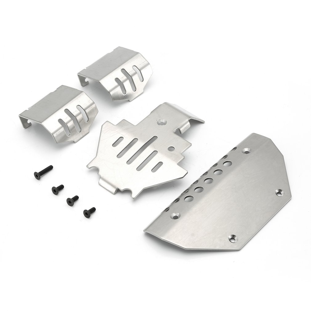 Metal Steel Anti-collision Protection Board Front Chassis Armor Protector Plate for 1/10 RC Crawler Traxxas TRX-4 G500