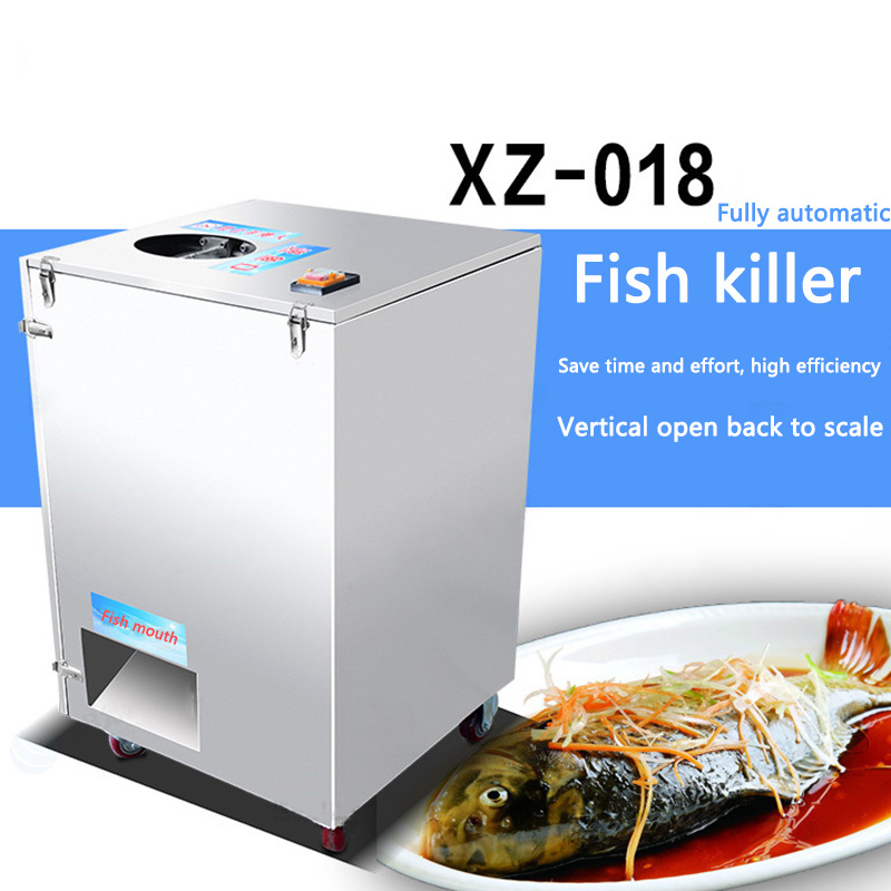 220V/380V  Vertical Commercial Killing Fish Machine Automatic Open Belly/open Back Fish Killers For Restaurant/canteen 1PC