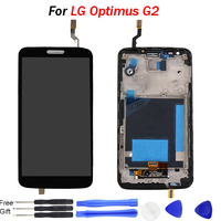 5.2 inch For LG Optimus G2 LCD Display Touch Screen Digitizer with frame Assembly For LG G2 G 2 D802 D805 phone replace LCD